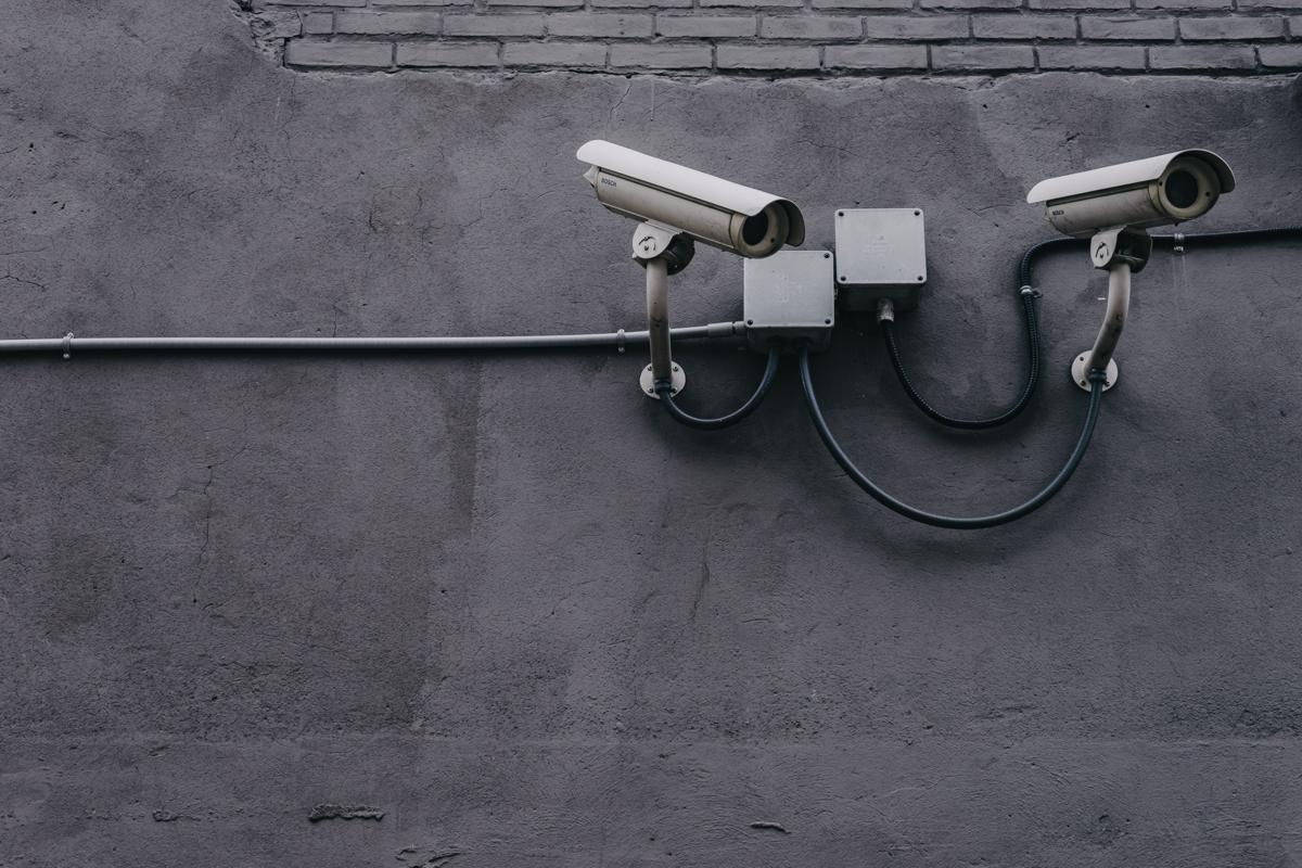 Two cameras on the wall